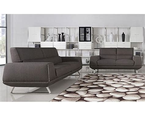 gray contemporary sofa modern grey fabric sofa set 44l5947