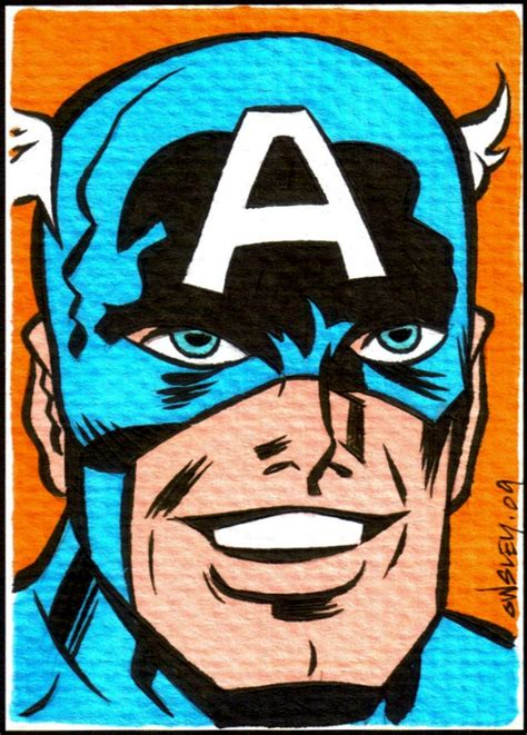 Captain America Vintage 14 sketch cards for sale by owsley at coroflot
