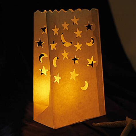 Paperbag Moon candle bags with moons 10 pc