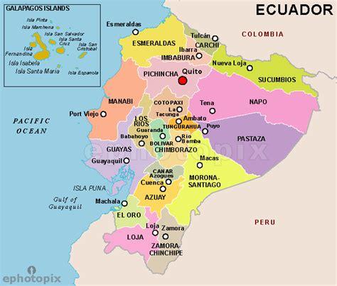 ecuador on map ecuador province map province map of ecuador maps