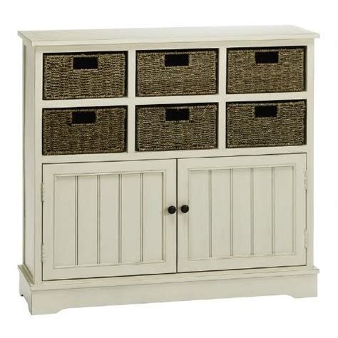 white 6 basket storage cabinet tree shops andthat