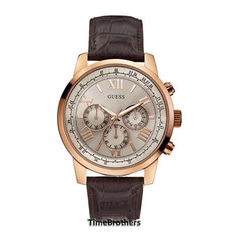 Guess Merica Rosegold Limited new guess for chronograph gold tone brown leather u0380g4 ebay