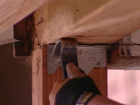Repair Sagging by How To Repair A Sagging Support Beam How Tos Diy