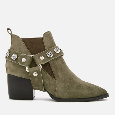 Country Boots Sol Kickers sol sana s bruno suede western heeled boots olive