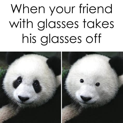 Glasses Off Meme - friend with glasses memes