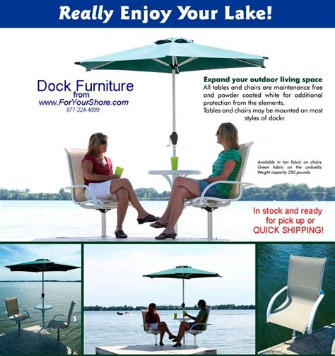 boat dock table and chairs cool mood dock chairs table and umbrella for your lake