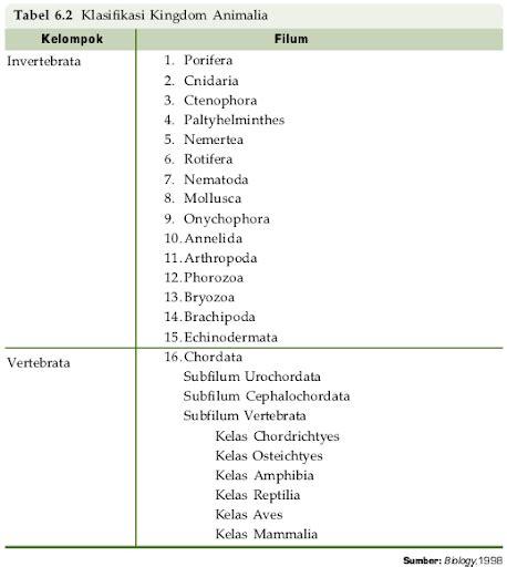 kingdom animalia pengertian klasifikasi contoh anggota ciri pengertian