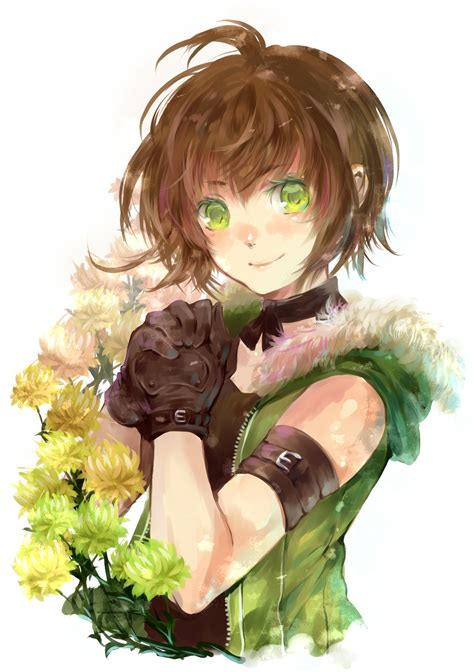 anime tomboy girl with glasses and short dark hair senano yu mobile wallpaper 243139 zerochan anime image