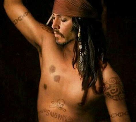 johnny depp s jack sparrow tattoo real 54 best images about johnny depp sexy jack sparrow