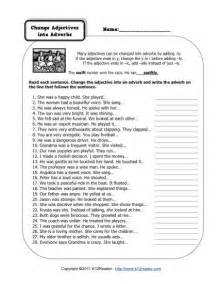 change adjectives into adverbs 3rd gradew worksheets