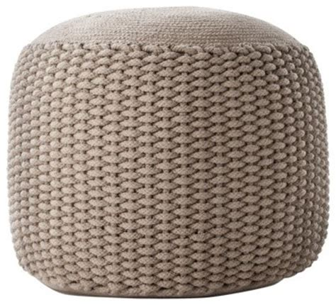 small pouf ottoman neutral rope pouf small contemporary floor pillows