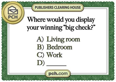 My Pch - where would you display your pch big check pch blog