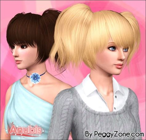 sims 3 pigtails with bangs double pigtails peggy s 551 hairstyle reetxtured by anubis