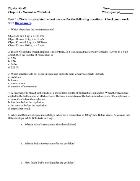 Conservation Of Momentum Worksheet Answers by 13 Best Images Of Energy Worksheets Middle School Energy