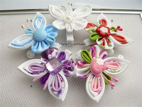 Jepit Rambut Hairbow Hjr043 handmade kanzashi toddler baby hair clip bow buy in uk shipping worldwide butterfly pin