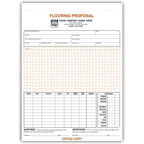 flooring invoice template flooring forms with signature free shipping