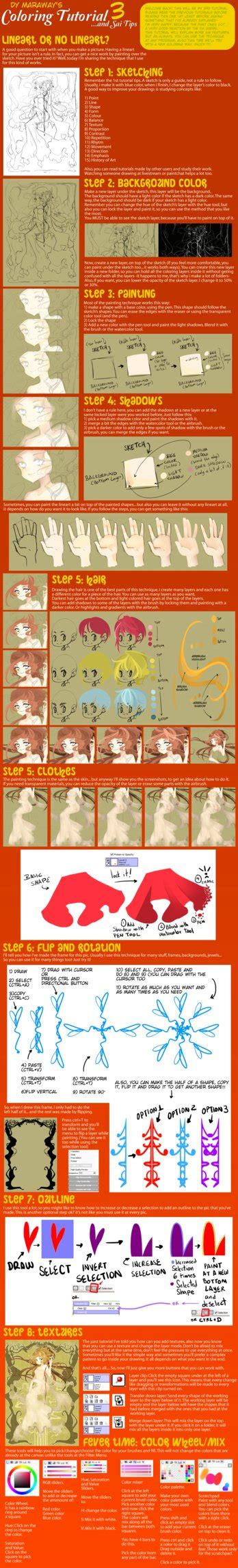 paint tool sai colouring tutorial deviantart coloring tutorial and sai tips 3 by dymaraway on deviantart
