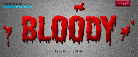 Welcome Some Blood To Style blood style photoshop styles brushlovers