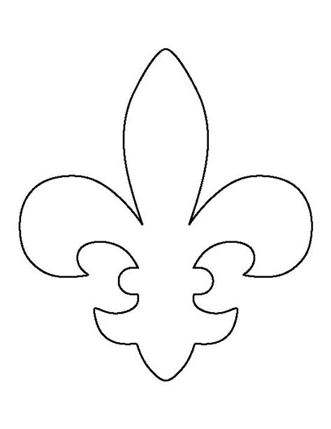 fleur de lis pattern use the printable outline for crafts