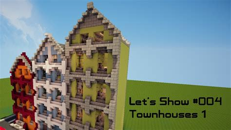 minecraft town houses minecraft let s show 004 townhouses youtube