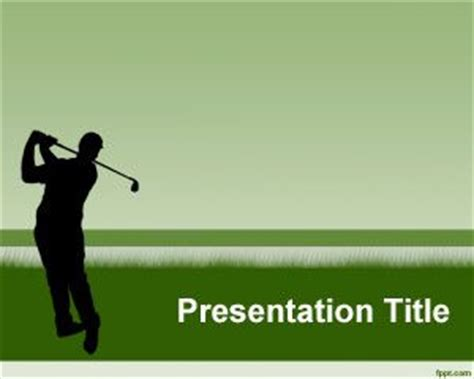 golf templates free free golf club powerpoint template