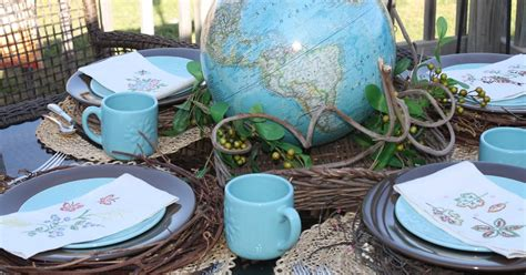 I Have A Big Story To Tell Earth Day Vintage Style World Globe Centerpieces