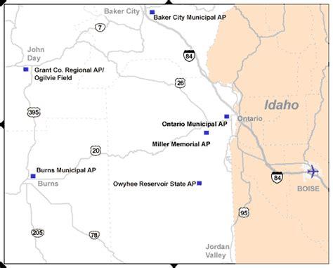 map of oregon airports east oregon airports tripcheck oregon traveler information