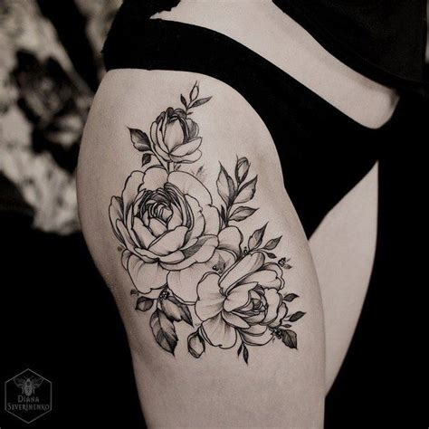 roses tattoos on thigh 25 best ideas about thigh on hip