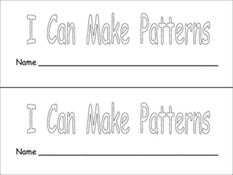 my pattern book kindergarten i can make patterns book for kindergarten or first grade