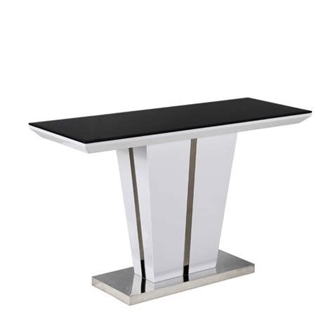 White Gloss Console Table Console Table With Black Glass Top And White Gloss