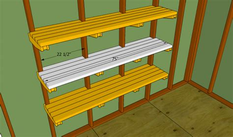 Wood Shed Shelves by Garage Shelves Plans Myoutdoorplans Free Woodworking Plans And Projects Diy Shed Wooden