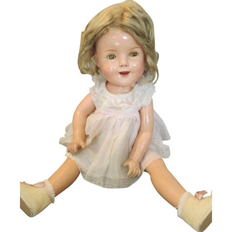 shirley temple composition doll for sale on hold 1940 s composition shirley temple doll from