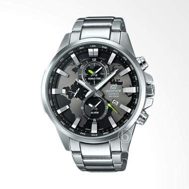 Jam Tangan Pria Casio Edifice Efb 301 White Silver Steel jual casio edifice dual world time jam tangan pria white efr 303d 7av harga
