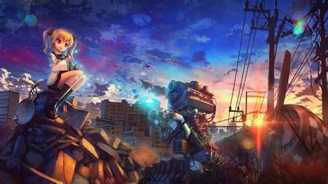 anime artwork anime artwork anime city engines