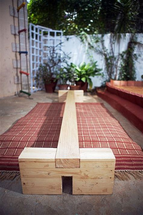 balance beam diy playground ideas