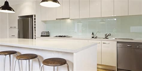 White Backsplash Kitchen by Glass Splashbacks And Kitchen Splashbacks O Brien Glass