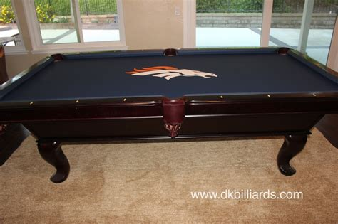 nfl broncos pool table dk billiards service orange