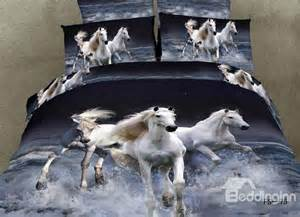 100 cotton white gallop in water realistic 3d print