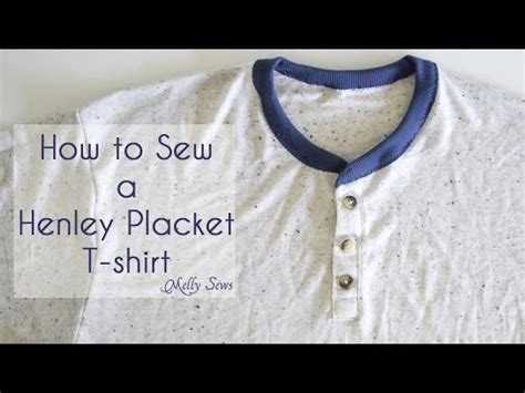 learning to sew a shirt placket cut it out stitch it up how to sew a henley placket youtube