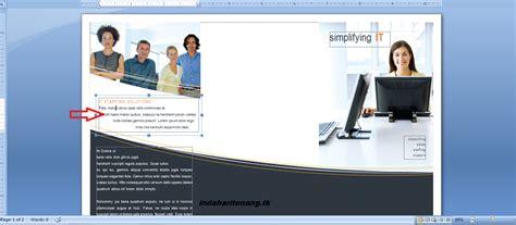 cara membuat brosur iklan di microsoft word sekilas info cara membuat leaflet brosur dengan