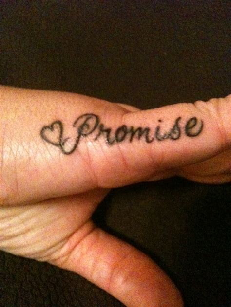 promise tattoo on pinky my promise for my we always do
