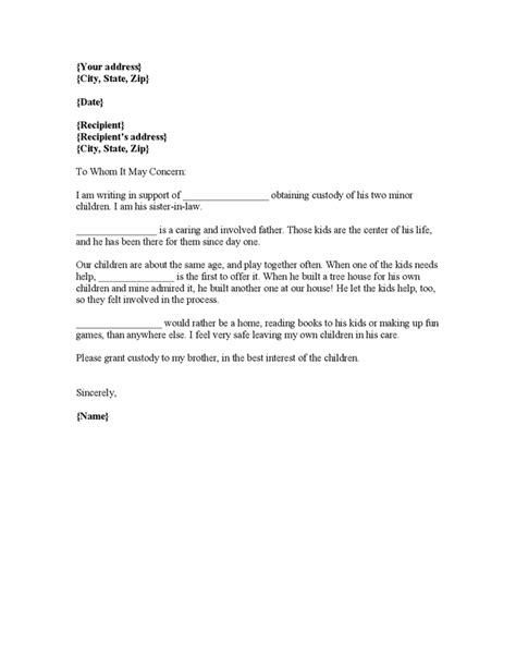 Character Letter Child Custody Sle Sle Character Reference Letter To A Landlord Contoh 36
