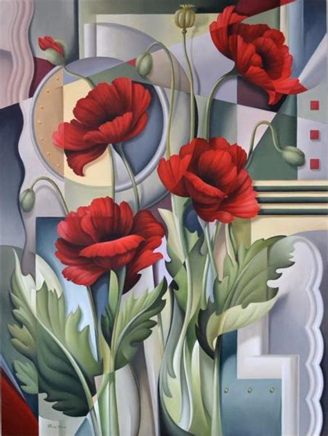 cubist poppies catherine abel art store