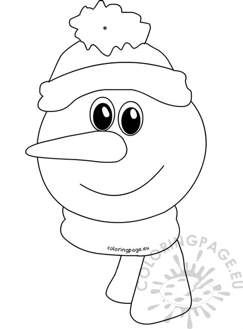 simple snowman coloring page easy paper snowman ornament coloring page