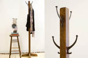 old fashioned antique wooden coat rack