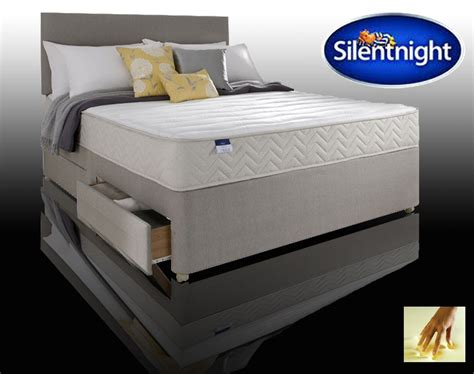 4 Drawer Divan Bed silentnight seoul 4 drawer divan bed with memory foam divan beds divan beds
