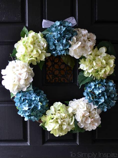 Diy Hydrangea Wreath Diy Wreaths Front Door