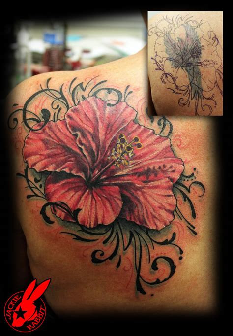 tribal design cover up flower tribal cover up tattoo by jackie rabbit by