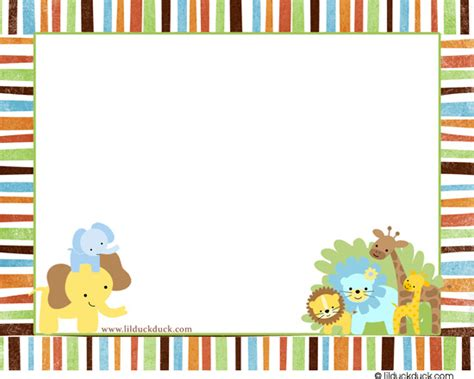 baby jungle animal border clip best photos of jungle animals invitation borders safari