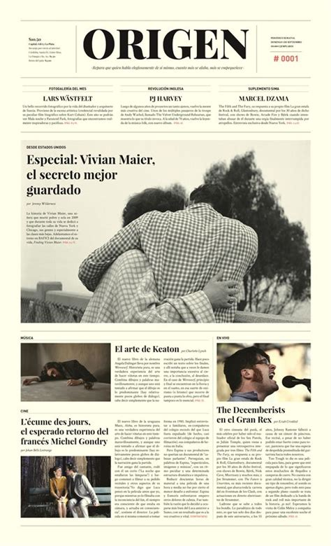 layout design newspaper origen peri 243 dico newspaper by krysthopher woods via